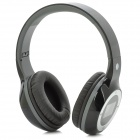 "D-420 Folding 1.4"" LCD 3.5mm Jack Stereo MP3 Headphone w/ FM / Mini USB / TF - Black + Grey + Silver"