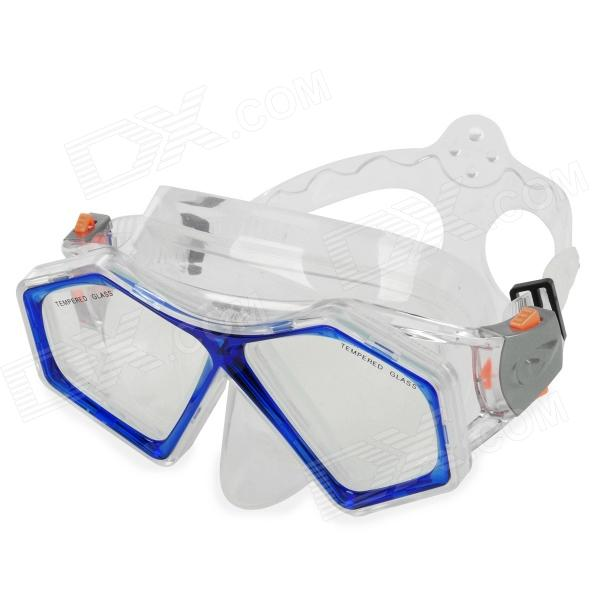 WINMAX WMB07064 Silicone Diving Mask - Blue + Transparent