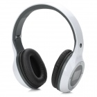 "D-420 Folding 1.4"" LCD 3.5mm Jack Stereo MP3 Headphone w/ FM / Mini USB / TF - Black + White + Grey"