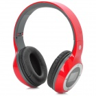"D-420 Folding 1.4"" LCD 3.5mm Jack Stereo MP3 Headphone w/ FM / Mini USB / TF - Black + Grey + Red"