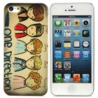 Cartoon One Direction Stil Protective Kunststoff zurück Fall für iPhone 5 - Multicolor