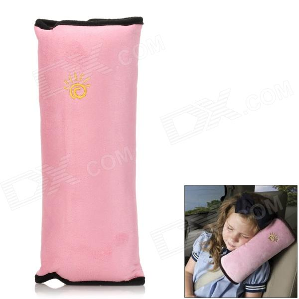 027 Car Safety Seat Belt Shoulder Pad Pillow for Children - Pink + Black