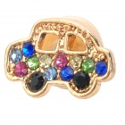 Cute Car Style Rhinestone Home Button Sticker for Iphone / Ipad - Multicolor