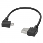 CY U2-075-LE Angle USB 2.0 Male to Angle Micro USB Male Connection Data Cable (20cm)