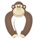 Cute Gorilla Pattern Baby Safety Door Stopper Finger Pinch Guard - Brown + Black + White