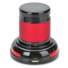 E301 Bluetooth V2.0 + EDR Stereo Speaker w/ TF / Microphone + USB Charging Dock - Black + Red