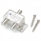 5~2450MHz 1-In 2-Out Distributor for SATV - Silver + White