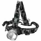 LZZ-186 600lm 3-Mode White Zooming Headlamp w/ CREE XM-L U2 - Silver (1 x 18650)