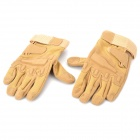 SW3036 Outdoor Montanhismo Windproof Fibra Super + Luvas de nylon Full-dedo - Sand (Pair / M)