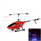 HuaJun W908-1 Large Scale 3.5-CH Radio Control R/C Helicopter w/ Gyro / LED - Red + Black