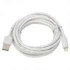 USB to 8-Pin Lightning Data / Charging Cable for iPhone 5 / iPad 4 / iPad Mini - White (300CM)