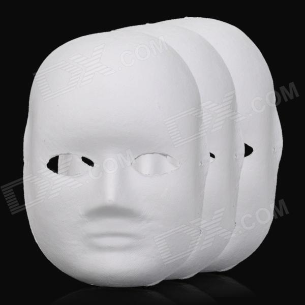 DIY Paper Pulp Female Doodle Mask - White (3 PCS) pulp and paper industry and environmental disaster
