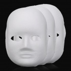 DIY Paper Pulp Female Doodle Mask - White (3 PCS)