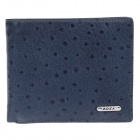 BEIDIERKE B016-918 High-grade Head Layer Cowhide Ostrich Pattem Wallet - Blue