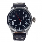 Super Speed V0162 Fashionable Men's Quartz Watch - Black + Silver + White  ( 1 x LR626)