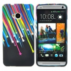 Meteor Style Protective TPU Back Case for HTC One M7 - Multicolor