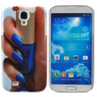 Nail Polish & Beautiful Fingers Style Plastic Back Case for Samsung Galaxy S4 i9500 - Blue