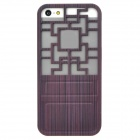 Traditional Chinese Door Style Hollow Out Protective Plastic Back Case for Iphone 5 - Multicolor