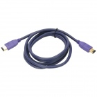 MILLIONWELL 01,0298 Vergoldete IEEE 1394 6-Pin auf 6-Pin-Datenkabel - Purple (1.8m)
