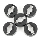 JR-21mm-60 Replacement 21mm Acrylic Convex Lenses for Flashlight - Black (5 PCS)