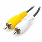 Estéreo de 2,5 mm a 2 x RCA macho a macho Cable AV para PC / MP4 - Negro + Amarillo + Blanco