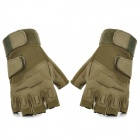 Outdoor Climbing Windproof Half Finger Glove - Green (Pair / Size XL)