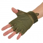 Outdoor escalade Windproof demi doigt gant - vert (paire / taille XL)