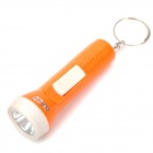 PZCD PZ-14 Mini White LED Torch Flashlight w/ Keychain - Orange (3 x AG3)
