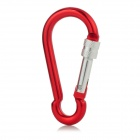 Aluminum Alloy Carabiner Clip - Red + Silver (Middle Size)
