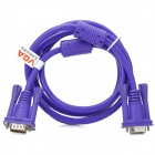 VGA 3+6 Male to Male High Definition Cable - Purple (1.5m)