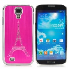 Eiffel Tower Style Brushed Aluminum Alloy Rhinestone Case for Samsung Galaxy S4 i9500 - Deep Pink