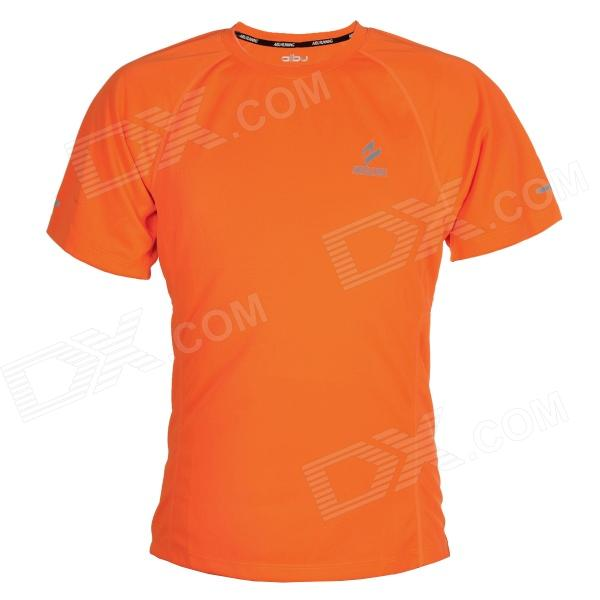 ARSUXEO T1301 Outdoor Cycling Quick Dry Round Collar T Shirt - Orange (Size XL)