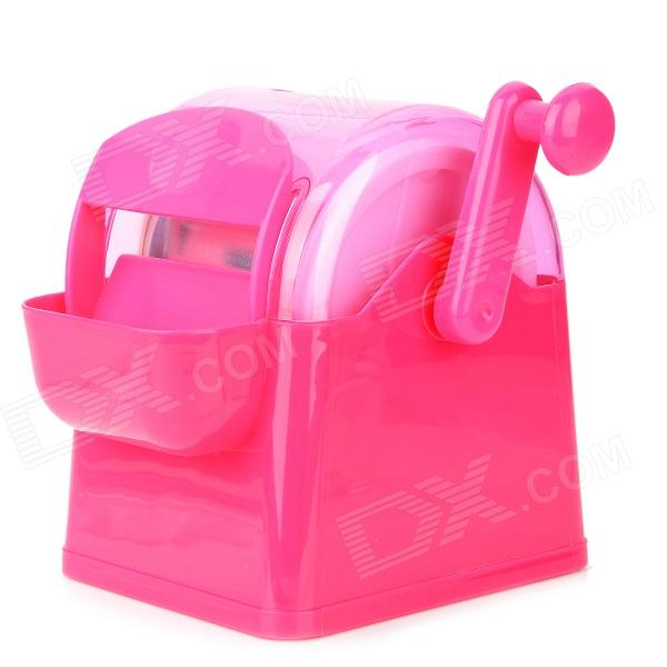 DIY Manual Ice Cream Machine - Deep Pink free air ship to youir home ce 50hz 60hz single square big pan ice cream roll machine with 5pcs tanks fried ice cream machine