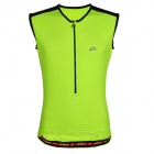 Veobike Cycling Riding Polyester Vest for Men - Fluorescent Green (Size XL)