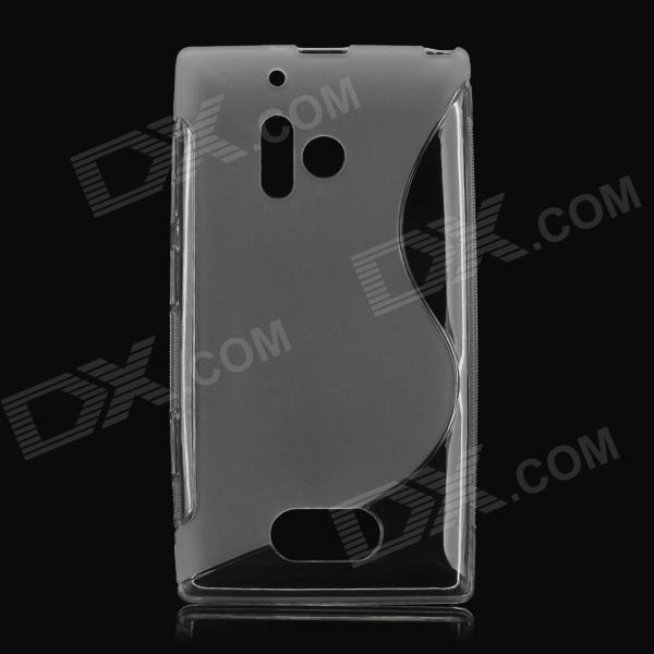 S Style Protective Soft TPU Back Case for Nokia Lumia 928 - Translucent White s style protective soft tpu back case for nokia lumia 928 translucent grey