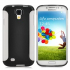 Lychee Pattern Protective PC + TPU Back Case for Samsung Galaxy S4 i9500 - Black + White