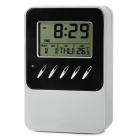 "SZ0673 Solar Energy Powered 2.4"" Screen Digital Calendar Clock w/ Pen Container (2 x LR44)"
