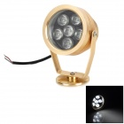 Xu Zhao XZ-TGD-006 6W 400lm 6500K White Light Waterproof LED Spot Light - Golden (220V)