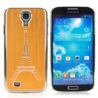 Eiffel Tower Style Brushed Aluminum Alloy Rhinestone Back Case for Samsung Galaxy S4 i9500 - Golden