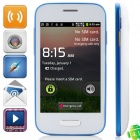 "9500mini Android 4.1.1 GSM Bar Phone w/ 3.5"" Capacitive Screen, Quad-Band and Wi-Fi - White + Blue"