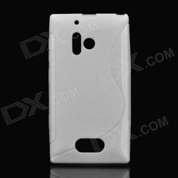 Protective Soft TPU Back Case for Nokia Lumia 928 - White s style protective soft tpu back case for nokia lumia 928 translucent grey