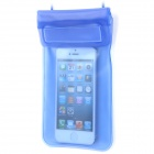 Stylish Waterproof Bag w/ Neck Strap for iPhone / Cell Phone - Blue