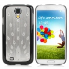 Peacock Style Brushed Metal Rhinestone + PC Back Case for Samsung Galaxy S4 i9500 - Silver
