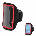 Sports Stylish Gym Armband Case for Samsung Galaxy S4 Mini i9190 - Black + Red