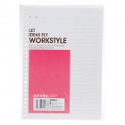 M&G APY9G457 B5 Loose-Leaf Core Paper - Deep Pink + White + Brown (60-Sheet)
