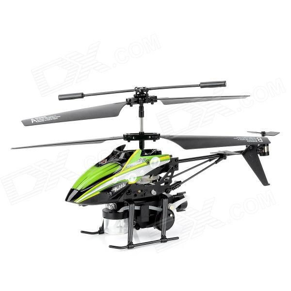 WLtoys V969 3.5-CH IR Remote Control Bubble Jet R/C Helicopter w/ Gyro / Colorful LED - Green