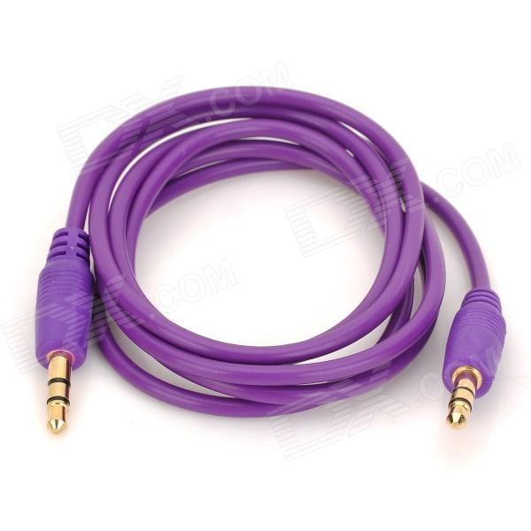 3.5mm Male to Male Audio Connection Cable - Purple (100cm)