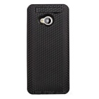 External 4800mAh Power Battery Charger Back Case w/ Switch / Stand for HTC One M7 - Black