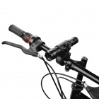 UltraFire 502B Aluminum Alloy Flashlight Case w/ Bicycle Mount Clip - Black