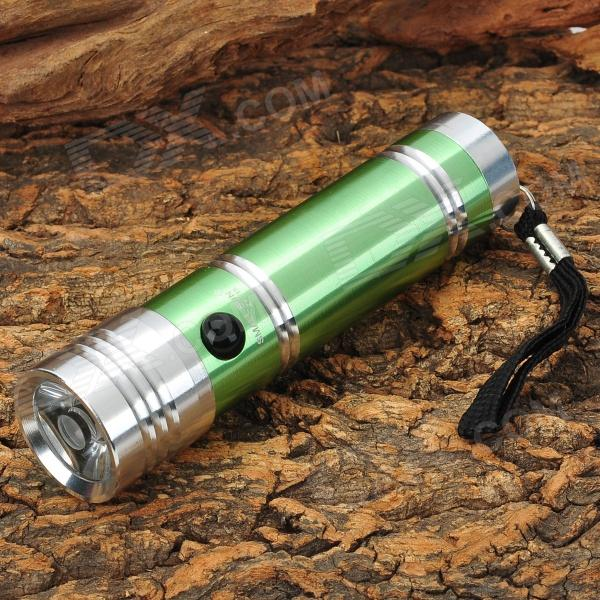 Small Sun ZY-715 3W LED 50lm White Flashlight w/ Strap - Green + Silver (3 x AAA) creative auto stirring mug silver green 2 x aaa 350ml